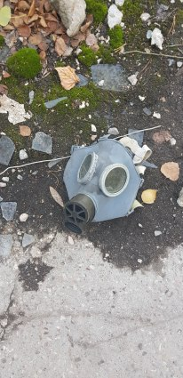 Abandoned Gas Mask from the Clean Up